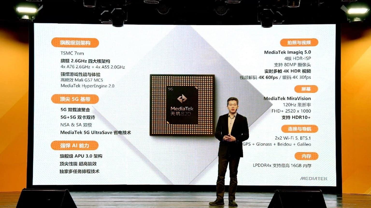 Redmi 10X, 820 5G SOC İşlemcili İlk Telefon Olacak