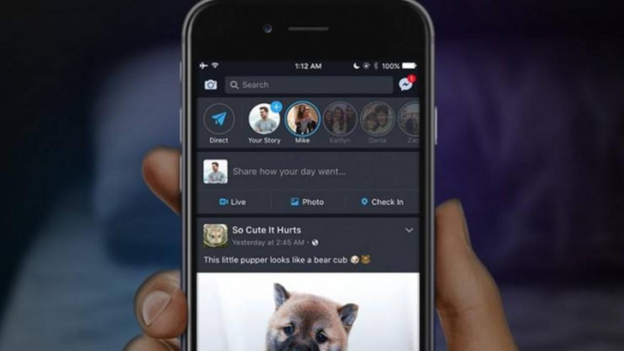 iOS'te Facebook Karanlık Mod Desteği Eklendi