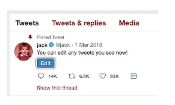 Twitter, Tweetler'de Düzenleme Düğmesi Getirilecek