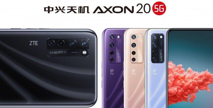 ZTE Axon 20 5G, En Son Resmi Posterde Üç Yeni Renkte Görünüyor!