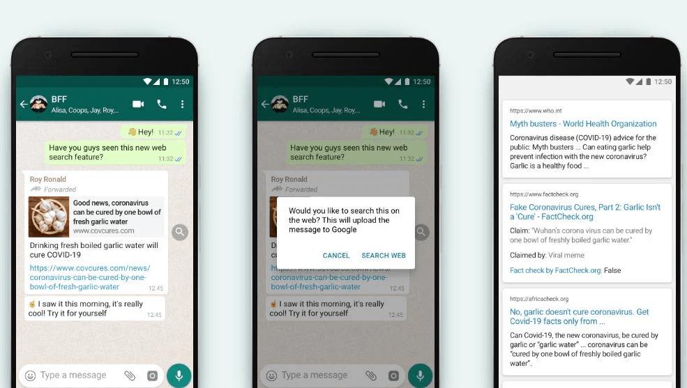 WhatsApp, Google'da İletilen İletileri Aramanın Basit Bir Yolunu Duyurdu